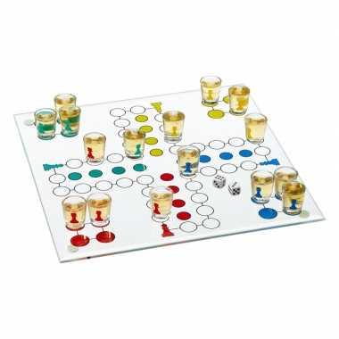 Drankspel / drinkspel bordspelletje ludo ergernis 19-delig