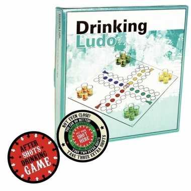 Drankspel/drinkspel ergernis bordspel met after shots viltjes