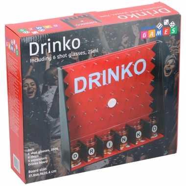 Drinko drankspel met 6 shotglazen 25ml