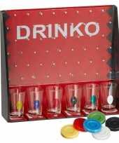 Drankspel drinko shotspel met 6 shotglaasjes